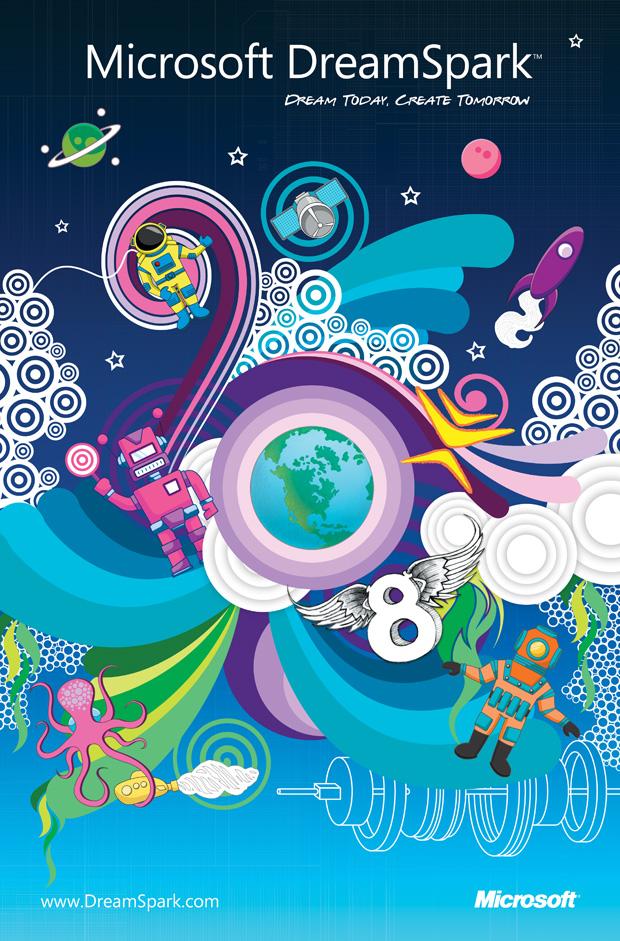 Microsoft DreamSpark Poster