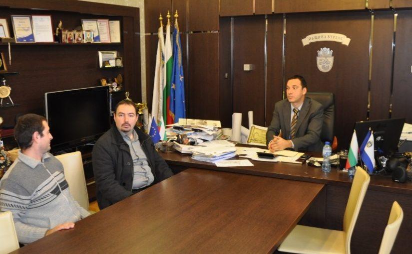 Среща на основателите на АТП с кмета на Бургас – Димитър Николов
