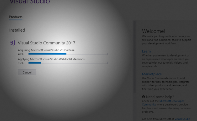 Visual Studio 2017 Install